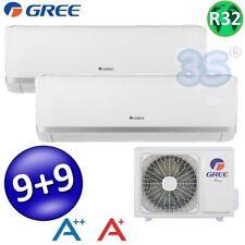 3S CLIMATIZZATORE DUAL SPLIT 9+9 BORA R32 GREE ARGO CONDIZIONATORE CLASSE A++ A+