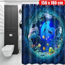 US Shower Curtain Anti-Slip Bathroom Bath Mat Pedestal Rug Lid Toilet Seat Cover