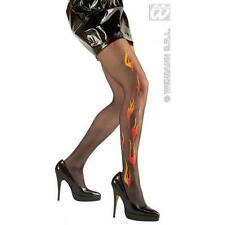 Ladies Glitter Flame Tights Sexy Halloween Devil Fancy Dress Accessory