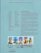 #0320 37c Southeastern Lighthouses #3786-#3791 Souvenir Page w/#3788a Variety