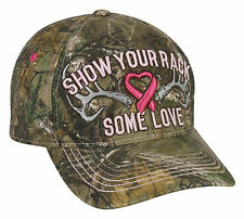 """CAP - BREAST CANCER """"SHOW YOUR RACK SOME LOVE"""" HAT REALTREE XTRA CAMO SUYT"""