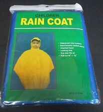 Children's Rain Coat with Hood One Size Fits All - Blue