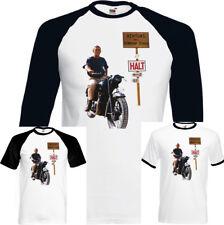 Steve Mcqueen - The Great Escape - Rétro Hommes Vieux Film T-Shirt Moto