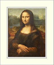 Leonardo Da Vinci Mona Lisa 10 X 8 Pulgadas montado Art Print