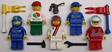5 LEGO RACE CAR DRIVERS MINIFIGS LOT racers racecar men racing octan city town