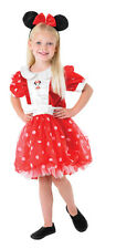 FANCY DRESS COSTUME ~ RED PUFF BALL MINNIE MOUSE LG AGE 7-8