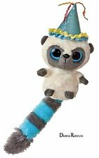 "YooHoo and Friends 5"" Bush Baby Birthday Hat Blue Plush Cuddly Soft Toy AURORA"