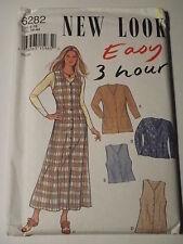 Jacket Jumper Vest Sewing pattern New Look # 6282 Size 8-18 Uncut
