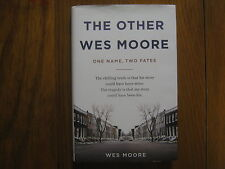 WES MOORE(BEYOND BELIEF)Signed  Book(THE OTHER WES MOORE-2010 1st Edit Hardback)