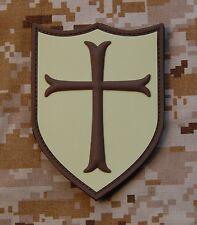 AOR1 3D PVC Navy SEAL Crusader Team 6 Shield Patch DEVGRU Afghanistan NWU II