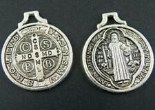 Silver/Bronze Color Saint Benedict Medal Cross Charms 10177 10178