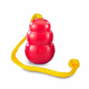 KONG Classic with rope - tug of war dog toy, treat dispenser - XL