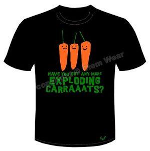 Bottom tee t shirt t-shirt Exploding Carrots Rik Mayal organic fair trade cotton