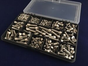Bolts for Bikes Bicycle A2 Stainless Steel Assorted Allen Screws Kit of 370 pcs
