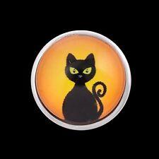 ANDANTE Druckknopf Click Button CHUNK Katze Schwarz Hexe Kostüm #4304 + GESCHENK