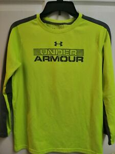 Under Armour Boys' ColdGear Infrared Long Sleeve Tee, yellow ,Size YLG