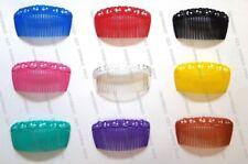 UK Hair Combs Ornament Figure Curved Side Slides Fascinator Plastic Sidecomb x 3