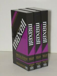 Lot of 3 Maxell Special Event HGX Gold 120 Blank VHS Video Cassette Tape Sealed