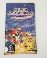 Super Smash Bros Melee Gamecube Manual Booklet Instructions Only