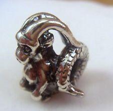 Auténtica plata esterlina Trollbeads Horóscopo Grano. Capricornio. nuevo