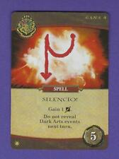 Harry Potter Hogwarts Deck Building Game Spell SILENCIO! PROMO CARD In HAND!
