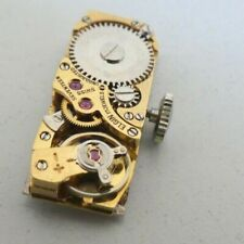 Vintage Elgin FHF 59-21 watch movement 17 Jewels for parts (l27)