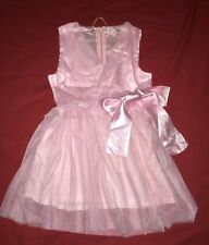 New Baby Girl Christening Mesh Lace Cross Front Layer Dress 110 120 Tall