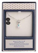 Equilibrium Celestial Star Necklace Swarovski Pave CZ White Gold Plated