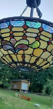 Tiffany Style Mission Stained Glass Geometric Ceiling Pendant Light Fixture