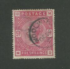 1884 Great Britain United Kingdom Queen Victoria 5 Shilling Postage Stamp #108