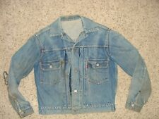 VINTAGE LEVI'S REDLINE Pleated BIG E DENIM JEAN JACKET Mens 38