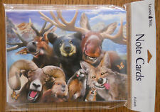 8 Leanin Tree Note Cards SELFIES, BEAR, MOOSE, RAM, WOODLAND ANIMALS, SMILING