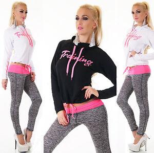 Women Tracksuit Sweatshirt Pants Set Sport Gym Lounge Wear Sweat Suit fitted