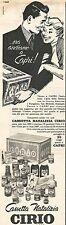 W1993 Cassetta Natalizia CIRIO - Pubblicità del 1958 - Vintage advertising