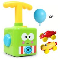 Power Balloon Car Education Montessori Toys Launch Tower Cars Kid Christmas