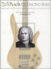 Johann Sebastian Bach for Electric Bass Guitar TAB Sheet Music Book Duets & Solo