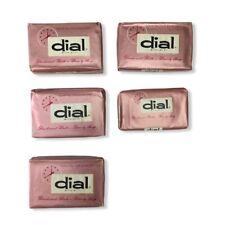 Lot of 5 Vintage Dial Pink Hotel Motel Travel Deodorant Bath Beauty Soap