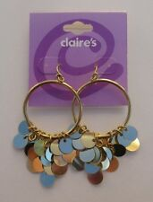 q Gold tone hoop dangle EARRINGS claire's jewelry