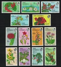 Gambia Flowers and Shrubs 13v 1977 Def SG#371=383 MI#345-357