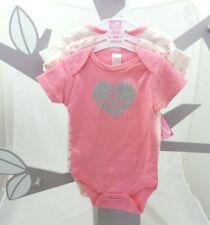 Soft Touch lot de 3 bodys rose coeur fleurs chats bébé fille 0 à 9 mois