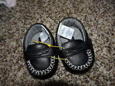 JANIE AND JACK SZ 0 INFANT BABY BLACK LOAFERS SHOES LITTLE LOCOMOTIVE