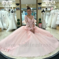 Pink Sweet 16 Quinceanera Dresses Elegant Princess Prom Evening Party Ball Gowns