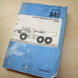 VOLVO A40 Dump Truck Repair Shop Service Manual list rock quarry articulated