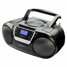 Groov-e GVPS933 Portable CD Player with Cassette USB and Radio in Black