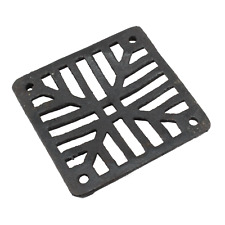 "Black Cast Grate Cover Square Drain Man Hole Gully Grid Covers 5"" 7"" 9"" 12"""