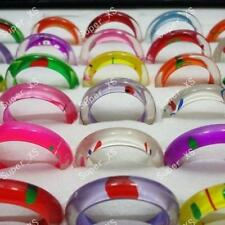 20pcs Wholesale jewelry mixed lots colourful resin rings free shipping