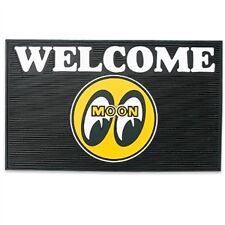 "Mooneyes Logo Rubber Garage Floor Welcome Mat: MP079BK - 24"" X 14"""