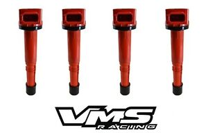 VMS RACING HIGH OUTPUT RED IGNITION COIL FITS 02-11 HONDA CIVIC SI SiR 2L UF311
