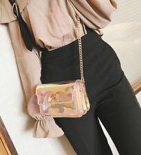 2017 Holographic Clear Transparent Shoulder Bag Clutch bag Transparent Handbag