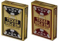 2 x COPAG TEXAS HOLDEM 100% Plastic POKER PLAYING CARDS
